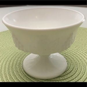 Other - Vintage Grapes & Leaves Milk Glass Footed Bowl
